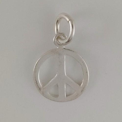 medium sterling silver 'peace' charm