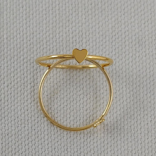 gold-filled 'heart' ring