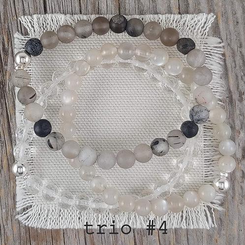 black tourmaline bracelet trio