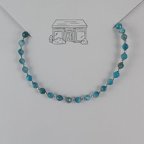 blue apatite clasped bracelet