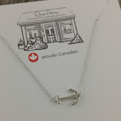 floating 'anchor' necklace