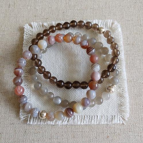semi-precious bracelet trio #11