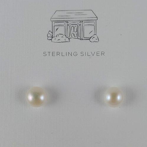 freshwater 'pearl' stud earrings