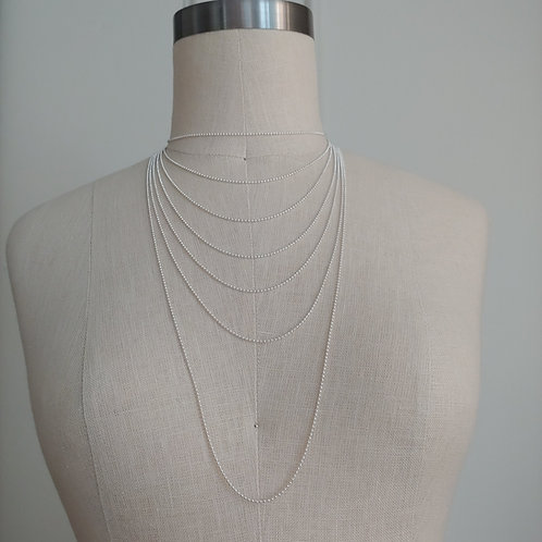 small sterling silver bead chain