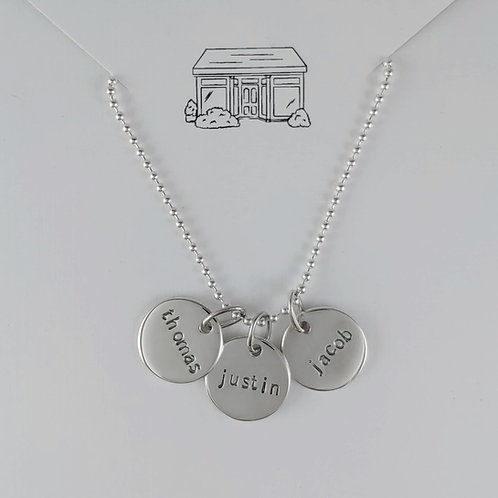'large' disc necklace