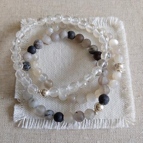 semi-precious bracelet trio #8