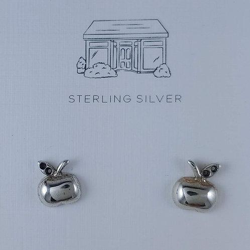 an 'apple' a day stud earrings