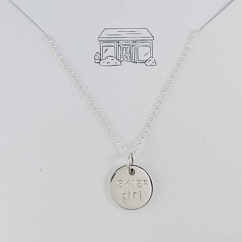 SKIER girl necklace