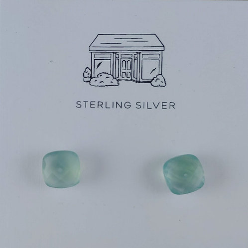chalcedony stud earrings