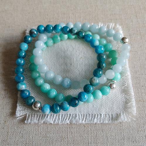semi-precious bracelet trio #3