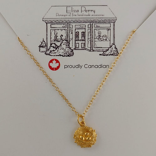 gold 'nesting' necklace