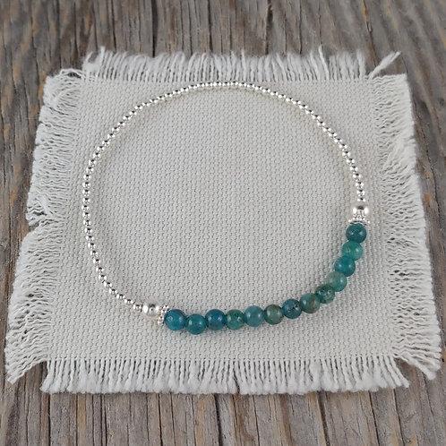 blue apatite station stretchy bracelet