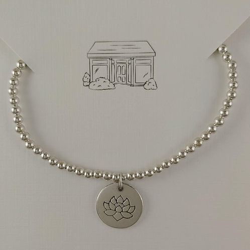 'lotus' charmed 3mm stretchy bracelet