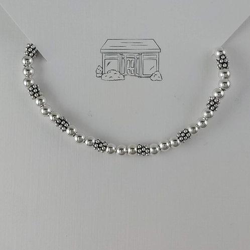 4mm triple beaded daisy stretchy bracelet