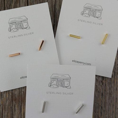 'staple' stud earrings