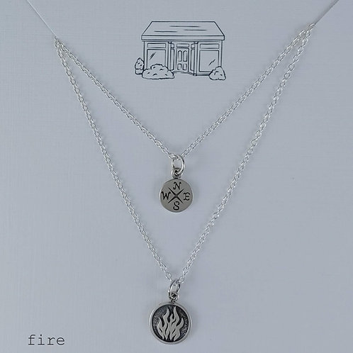 silver earth elements necklaces
