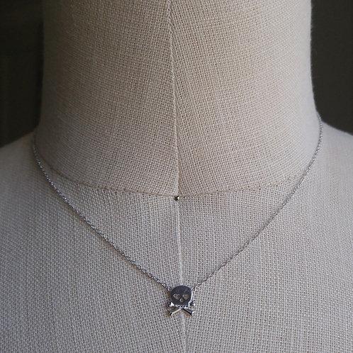 mini silver skull necklace