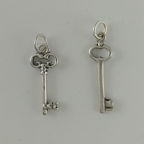sterling silver 'key' charms