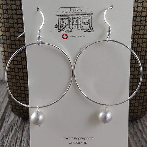 swinging beaded ring earrings