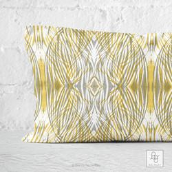 Darlington in Gray and Yellow Lumbar Pillow