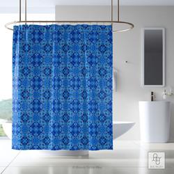 Lisbon Shower Curtain in Cobalt