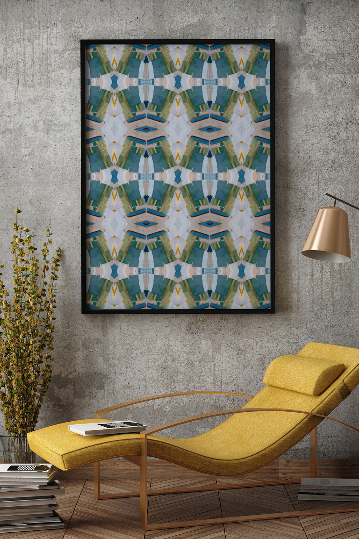 Collage / Surface Pattern Textile Design / Wall Art / Fine Art Print