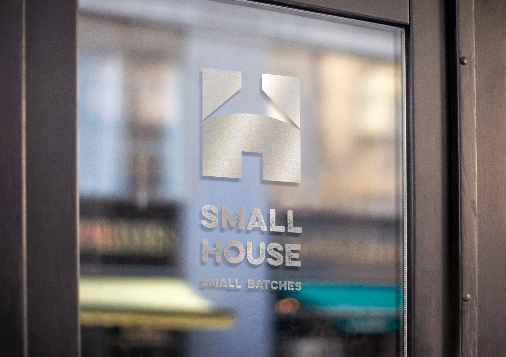 Graphic Design / Small House Logo / Brand Identity and Window Design