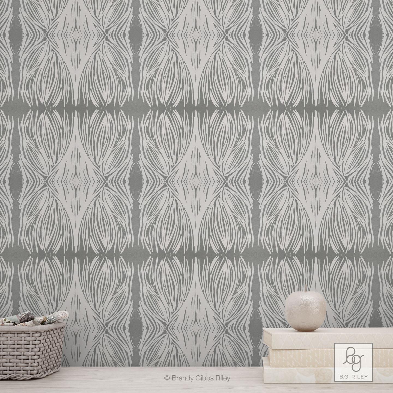 Gray Linocut Pattern