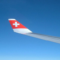 Somewhere over the Swiss Alps..