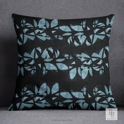 June Flowers in Blue Pillow