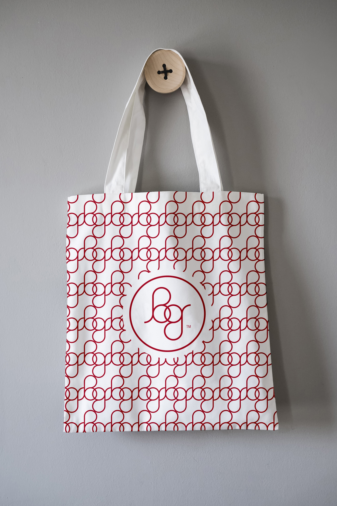 Graphic Design / BG Riley Brand Identity and Logo Application / Tote Bag