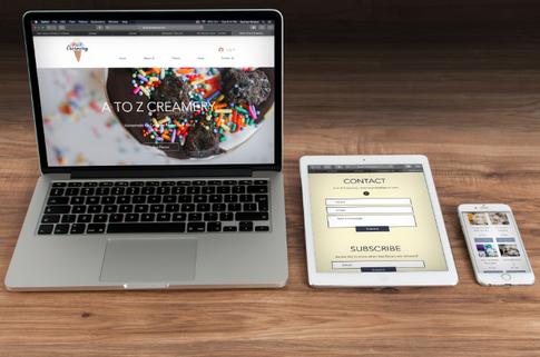A to Z Creamery Website Design