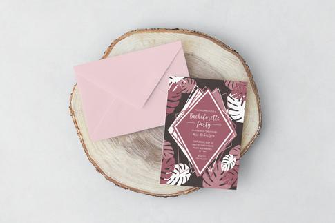 Leafy Bachelorette Design