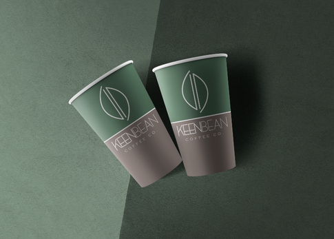 KeenBean Coffee Co. Logo and Cup Design