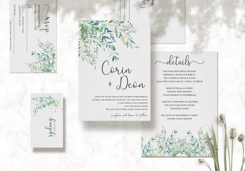 Corin & Deon Wedding Set