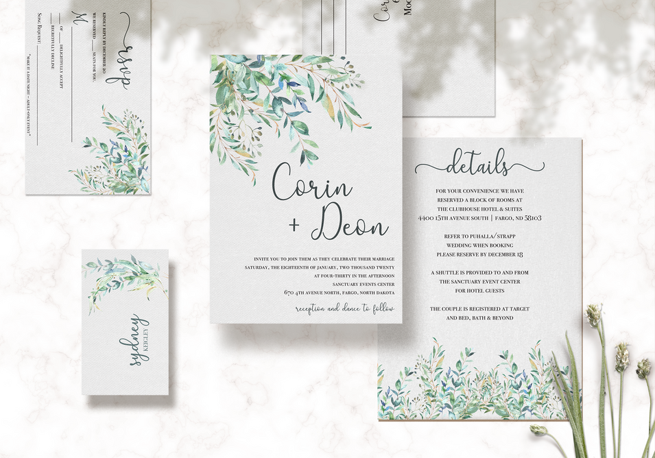 Corin & Deon Wedding Set