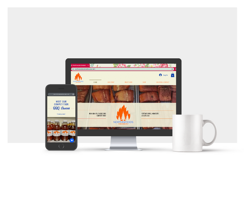Northwoods Smokehouse Website Design