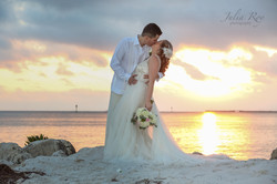 Smathers beach Key west wedding phot