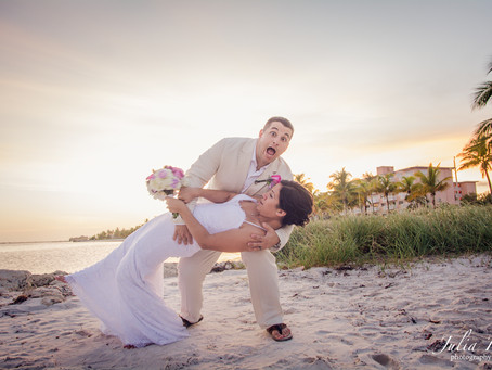 """BEAUTY WILL SAVE THE WORLD"" Key West beach wedding"