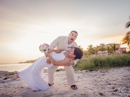 """BEAUTY WILL SAVE THE WORLD"" Key West beach wedding"