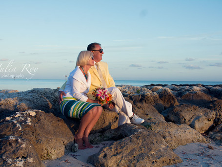 European charm under Floridian sky. Most elegant couple from United Kingdom and Hungary eloped in Ke