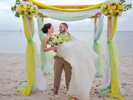 Key West is famous not only for Key Lime pie but for its Key Lime wedding package!