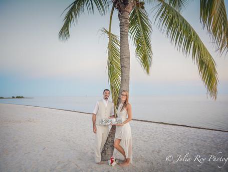 Key West wedding , Marcia & David
