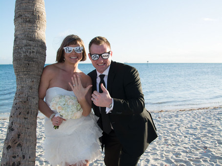 {Lindsay & Michael} Eloped on Smathers Beach -   Key West wedding