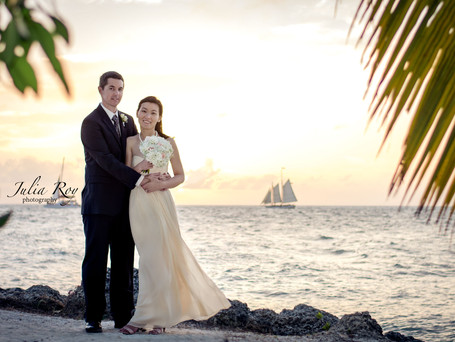 {Lucy & Brian } at Fort Zachary Taylor Park - Key West vow renewal