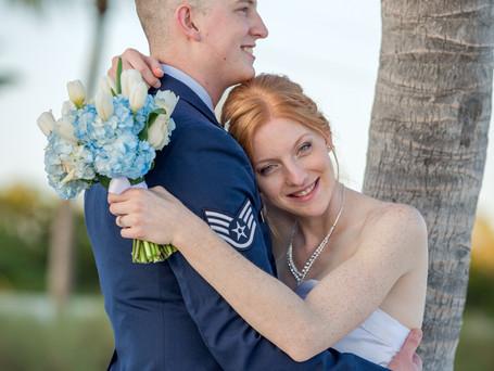 Military wedding in Key West