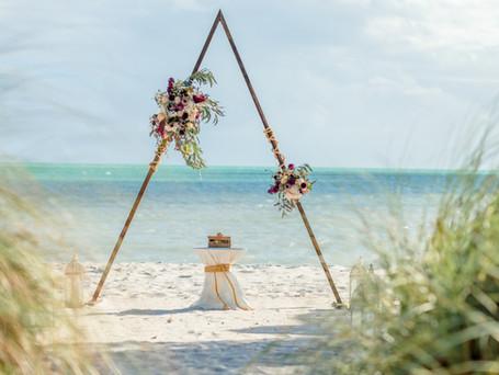 Key West BOHO STYLEd beach Wedding