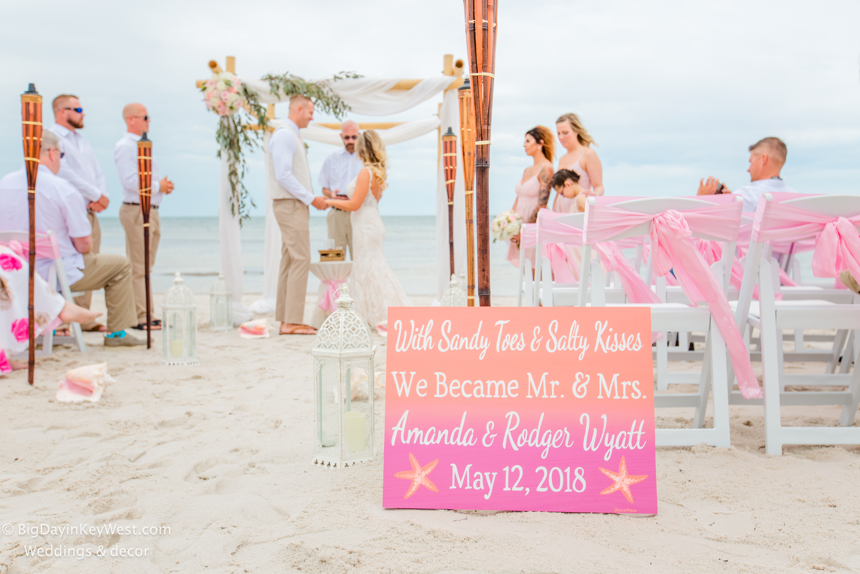 Key WEst wedding pink
