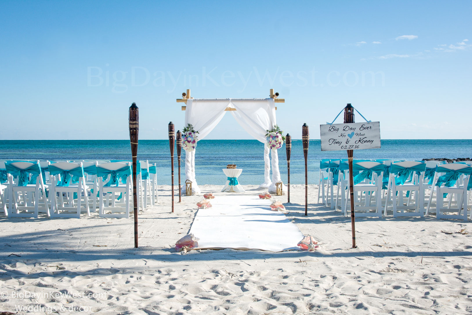 Key West Smathers beach wedding