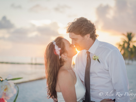 Perfect Sunset in Key West for Nichole &  Lyle